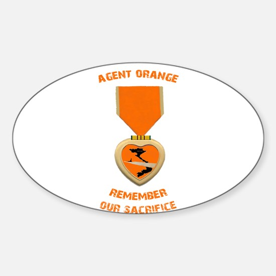 Agent Orange Sticker (Oval)