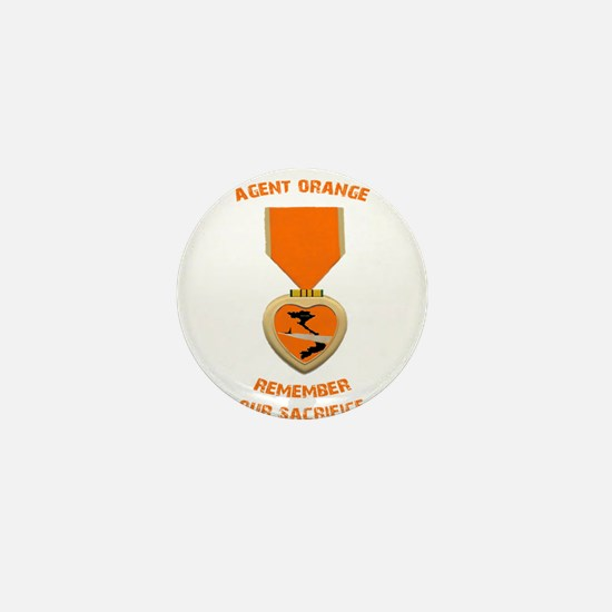 Agent Orange Mini Button