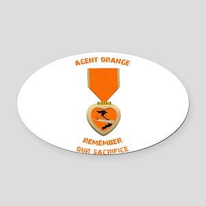Agent Orange Oval Car Magnet