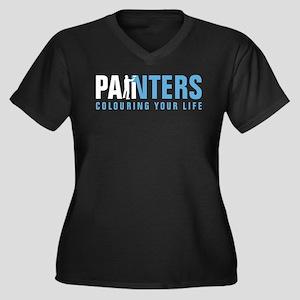 painter man Women's Plus Size V-Neck Dark T-Shirt