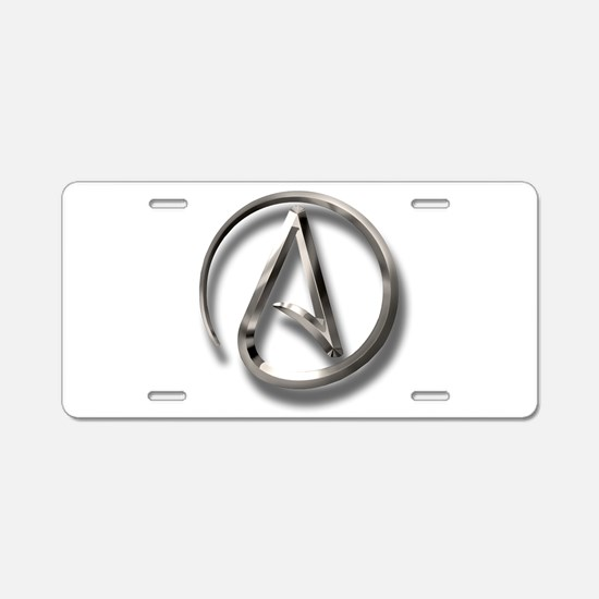 International Atheism Symbol Aluminum License Plat