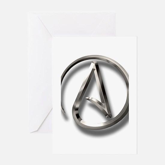 International Atheism Symbol Greeting Card
