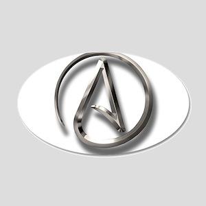 International Atheism Symbol 20x12 Oval Wall Decal