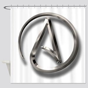 International Atheism Symbol Shower Curtain