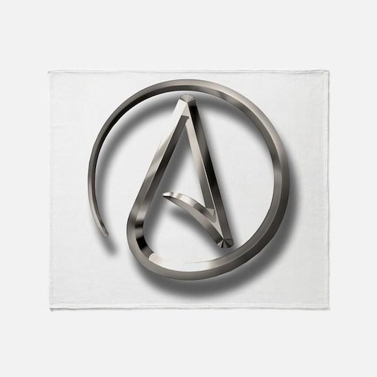 International Atheism Symbol Throw Blanket