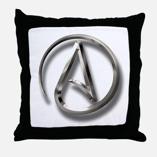 International Atheism Symbol Throw Pillow