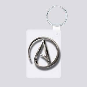 International Atheism Symbol Aluminum Photo Keycha