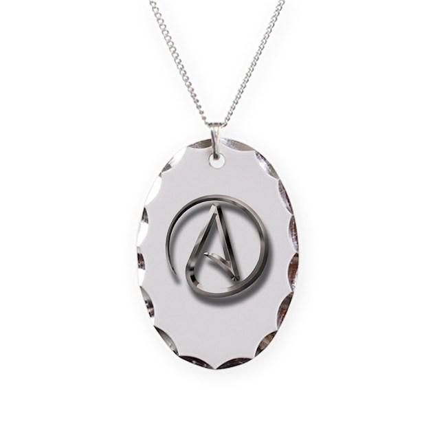 International Atheism Symbol Necklace By Atheistclothingcompany