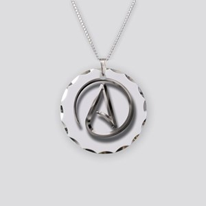 International Atheism Symbol Necklace Circle Charm