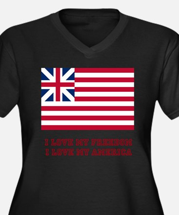 The Flag of Great Union Women's Plus Size V-Neck D