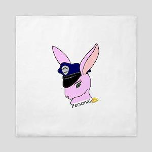 Personal Badge Bunny (Wife) Queen Duvet
