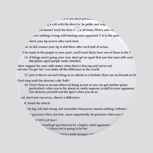 21 Rules & Truisms of Fencing Ornament (Round)