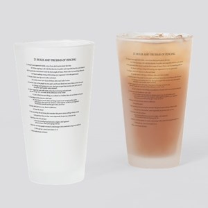 21 Rules & Truisms of Fencing Drinking Glass