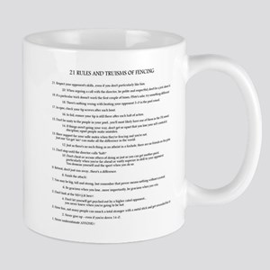 21 Rules & Truisms of Fencing Mug