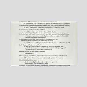 21 Rules & Truisms of Fencing Rectangle Magnet