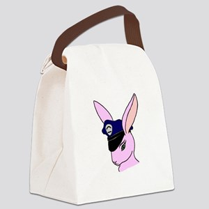 Badge Bunny (Centered) Canvas Lunch Bag