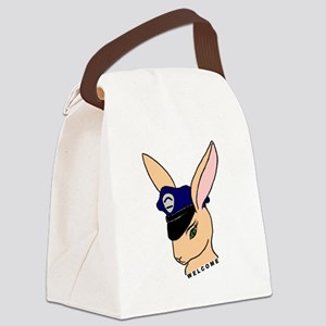 Badge Bunnies Welcome Canvas Lunch Bag
