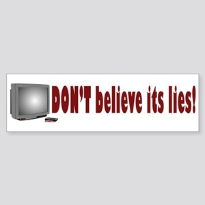 Television Lies anti-TV Bumper Sticker