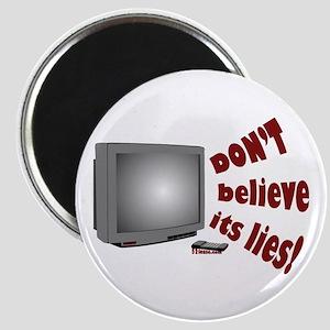 Television Lies anti-TV Magnet