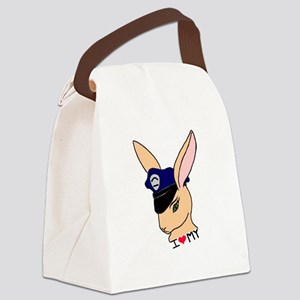 I Love My Badge Bunny Canvas Lunch Bag