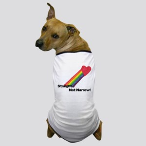 straightnotnarrowhitecopy Dog T-Shirt