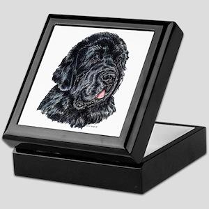 Newfoundland Dog Portrait Keepsake Box