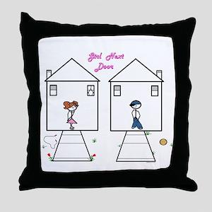 Grl Next Door Throw Pillow