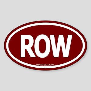 ROW Oval Sticker