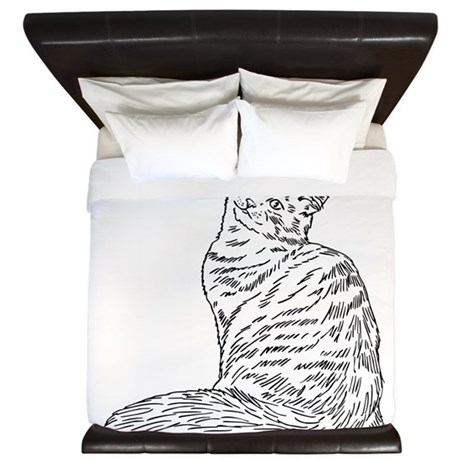 SIBERIAN CAT King Duvet