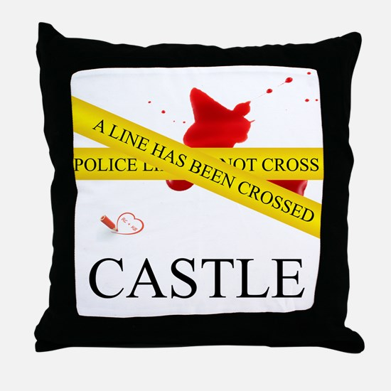 A Line Has Been Crossed Throw Pillow