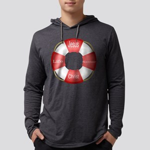 Jesus Christ Life Savior Buoy Mens Hooded Shirt