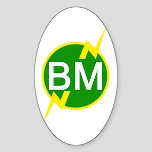 BM Dupree Oval Sticker