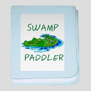 Swamp Paddler baby blanket