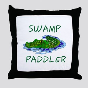 Swamp Paddler Throw Pillow