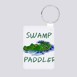 Swamp Paddler Aluminum Photo Keychain
