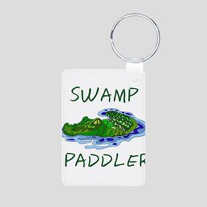 Swamp Paddler Aluminum Photo Keychain
