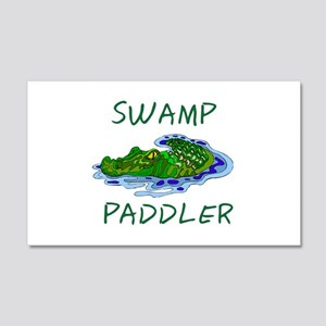 Swamp Paddler 20x12 Wall Decal