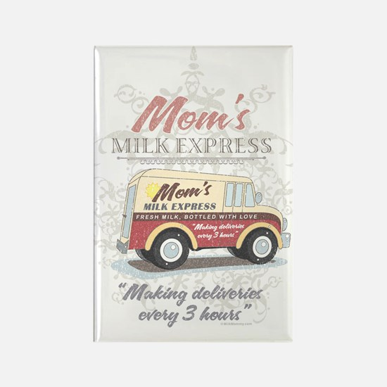 MM Moms Milk Express Rectangle Magnet