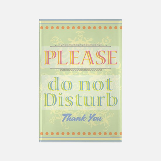 Do Not Disturb Rectangle Magnet