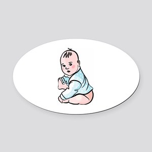 Baby Oval Car Magnet