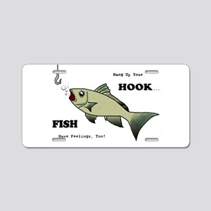 Hang Up Your Hook Aluminum License Plate