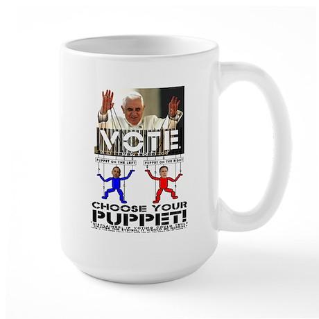 Vatican Puppets Romney vs Obama Large Mug