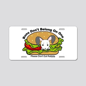 buns Aluminum License Plate