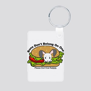 buns Aluminum Photo Keychain