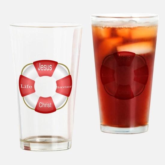 Jesus Christ Life Savior Buoy Drinking Glass