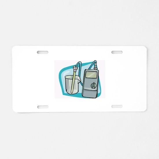 Chemistry Aluminum License Plate