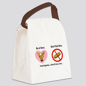 3-Be a Hero Canvas Lunch Bag