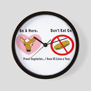 3-Be a Hero Wall Clock