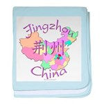 Jingzhou China Map baby blanket