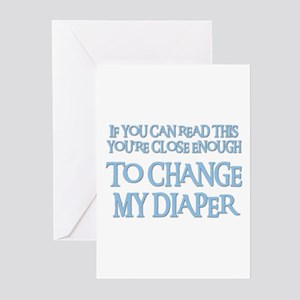 Pregnant daughter greeting cards cafepress change my diaper greeting cards pk of 10 m4hsunfo Images